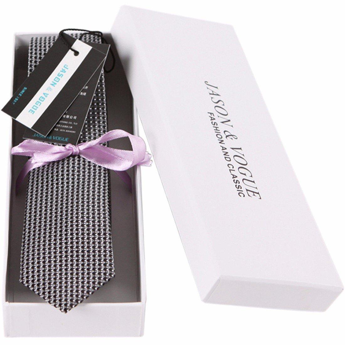 HXCMAN 5cm negro Cuello de heno corbata Diseño clásico corbata ...