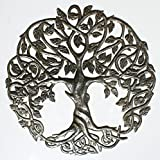 Tree of Life Wall Art Tree Outdoor Wall Hanging Decor Decorating The Home Handmade in Haiti, 60cm