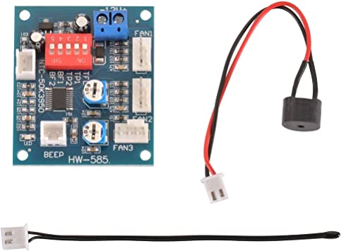 RongDuosi 12 V PWM PC CPU Ventilador Control de Temperatura ...