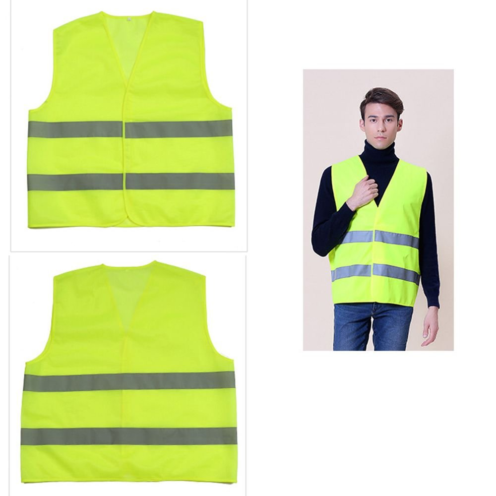 MAXGOODS 2-Pack High Visibility Neon Safety Vest Reflective Safety Vest Fit for Running Cycling Sports Outdoor Clothes (Yellow) DSG068