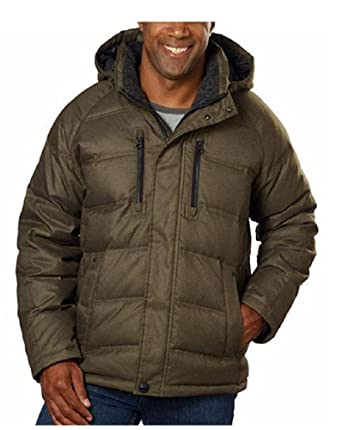52a513917af Hawke & Co. Men's Down Feather Fill Coat with Removable Hood