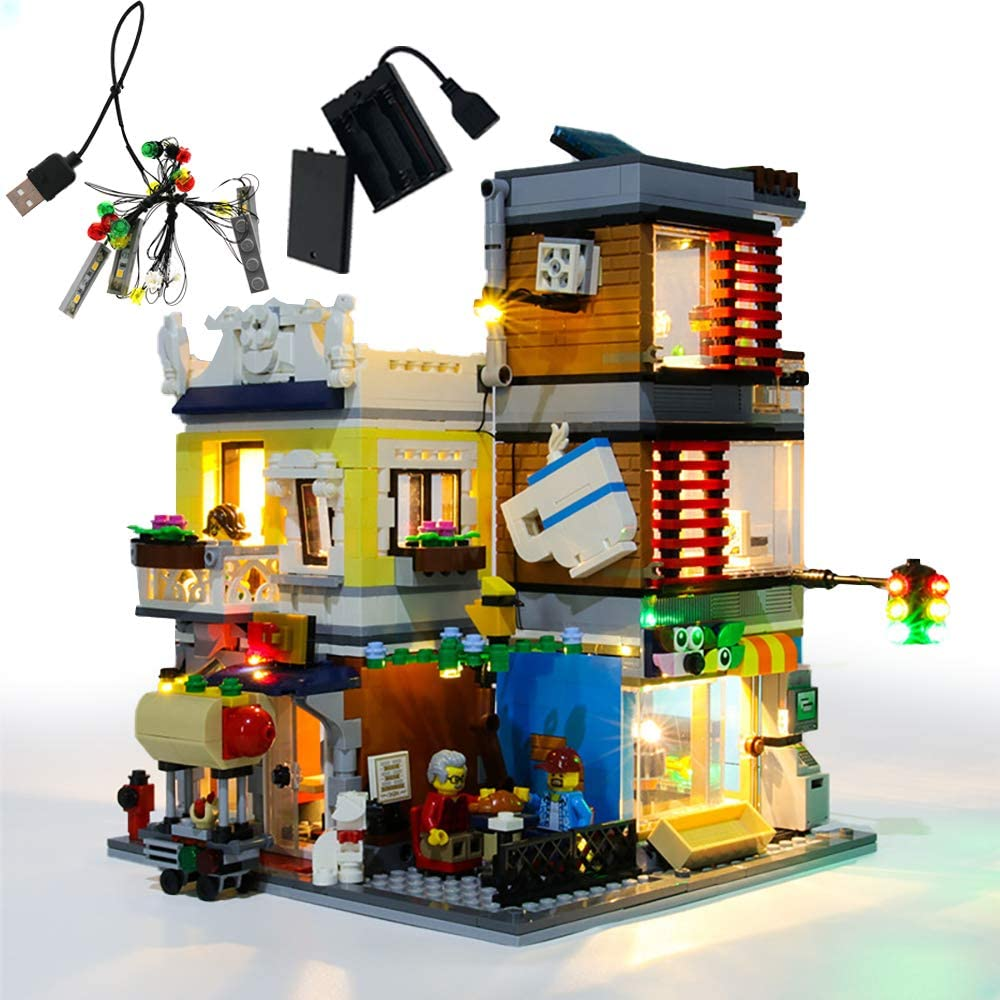 with Instruction GEAMENT LED Light Kit for Townhouse Pet Shop /& Caf/é Compatible with Lego Creator 3 in 1 31097 Toy Store Building Set Lego Set Not Included