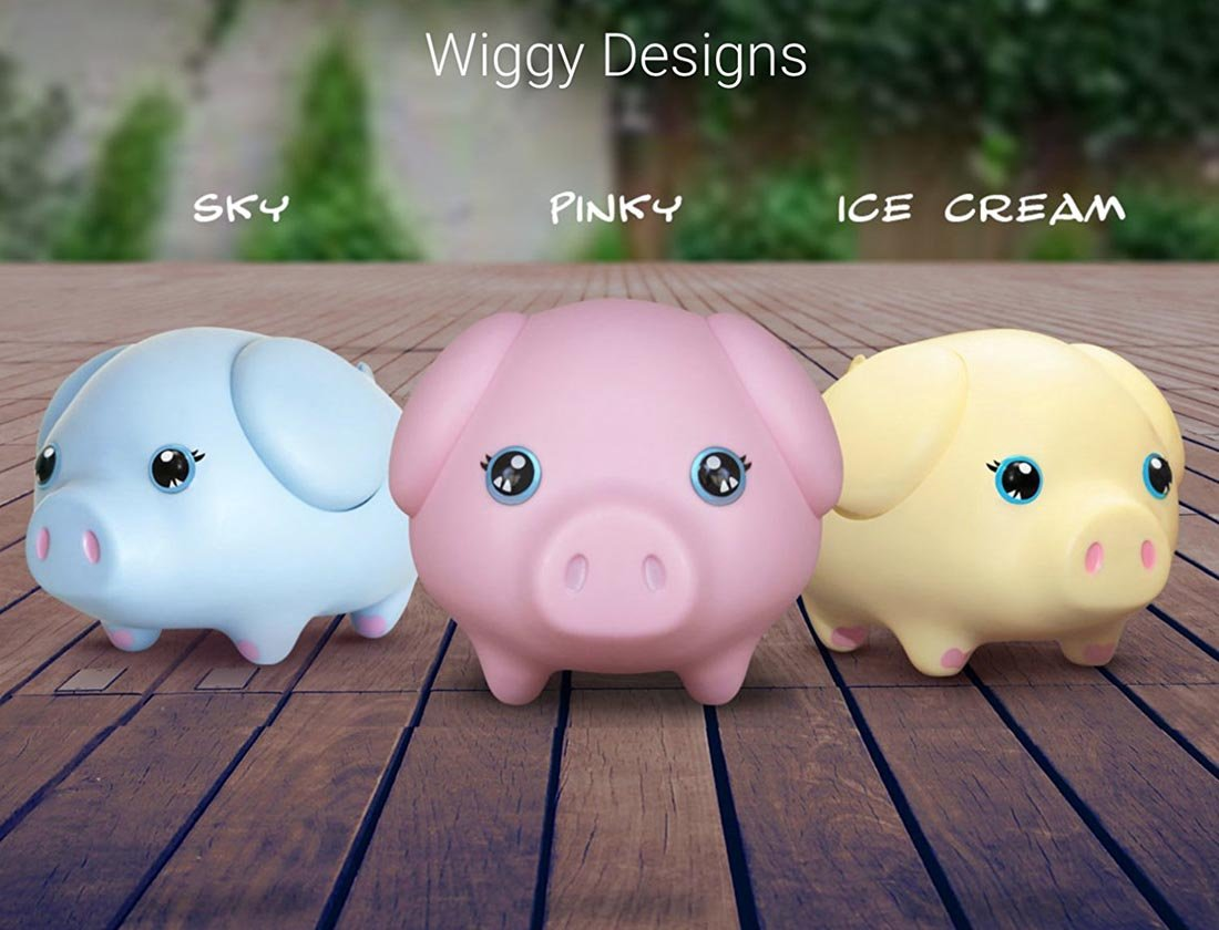 Wiggy Piggy Bank (Spotty): Smart Speaking Piggy Bank and Task Tracker by Wiggy