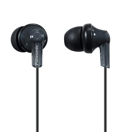 d7382a63fe9 Amazon.com: Panasonic ErgoFit In-Ear Earbud Headphones RP-HJE120-K (Black)  Dynamic Crystal Clear Sound, Ergonomic Comfort-Fit: Home Audio & Theater