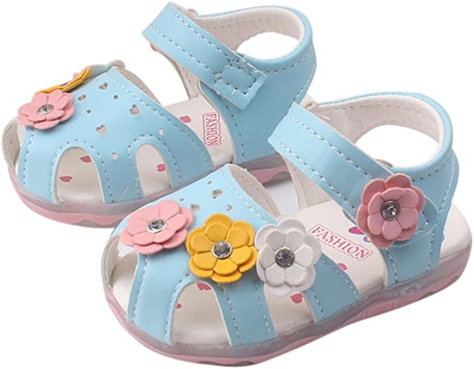 Amazon.com: xeduo bebés, niñas, flores sandalias zapatos de ...
