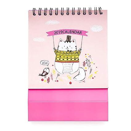 Planificador de calendario de mesa Mini 2019 planificador de ...
