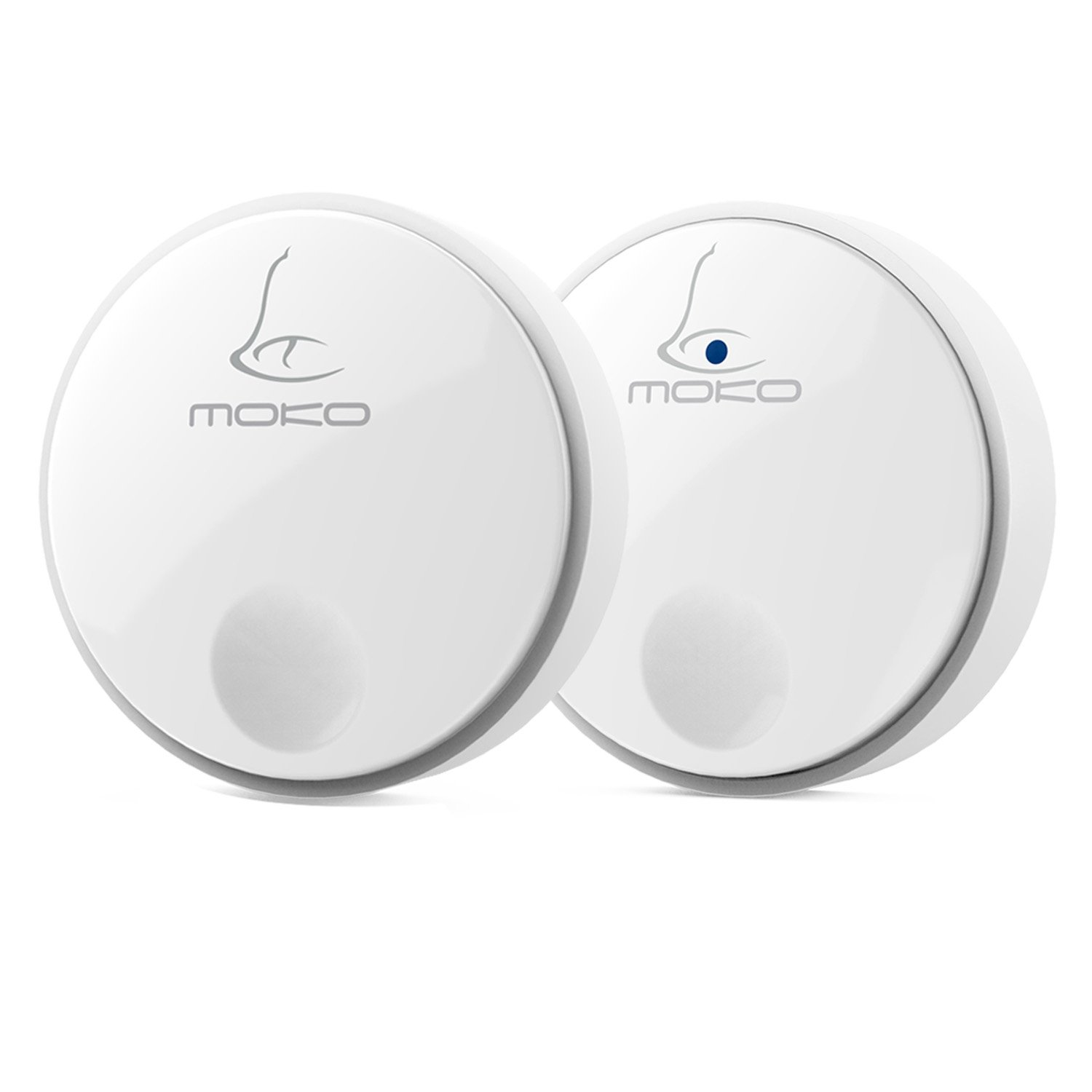 MoKo Wireless Self-Powered Doorbell, [ No Battery Required ] for Receiver / Transmitter, Plug-in Push Button with 32 Chimes, 3-Level Adjustable Volume, Work Over 300-feet(100m) Range, WHITE