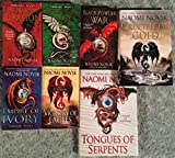 "The Temeraire Series (seven novel set): ""His Majesty's Dragon"", ""Throne of Jade"", ""Black Powder War"", ""Empire of Ivory"", ""Victory of Eagles"", ""Tongues of Serpents"" & ""Crucible of Gold"""