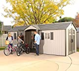 Lifetime Storage Shed with 2 Windows - 20 x 8 Feet