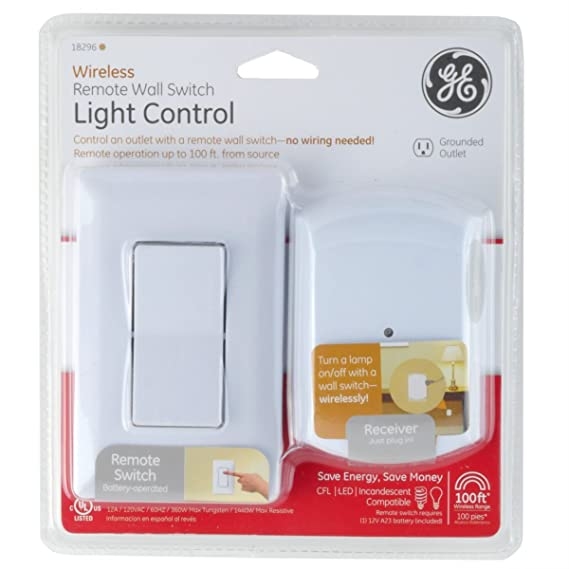 Amazon.com: GE Wireless Indoor Remote Wall Switch Light Control ...
