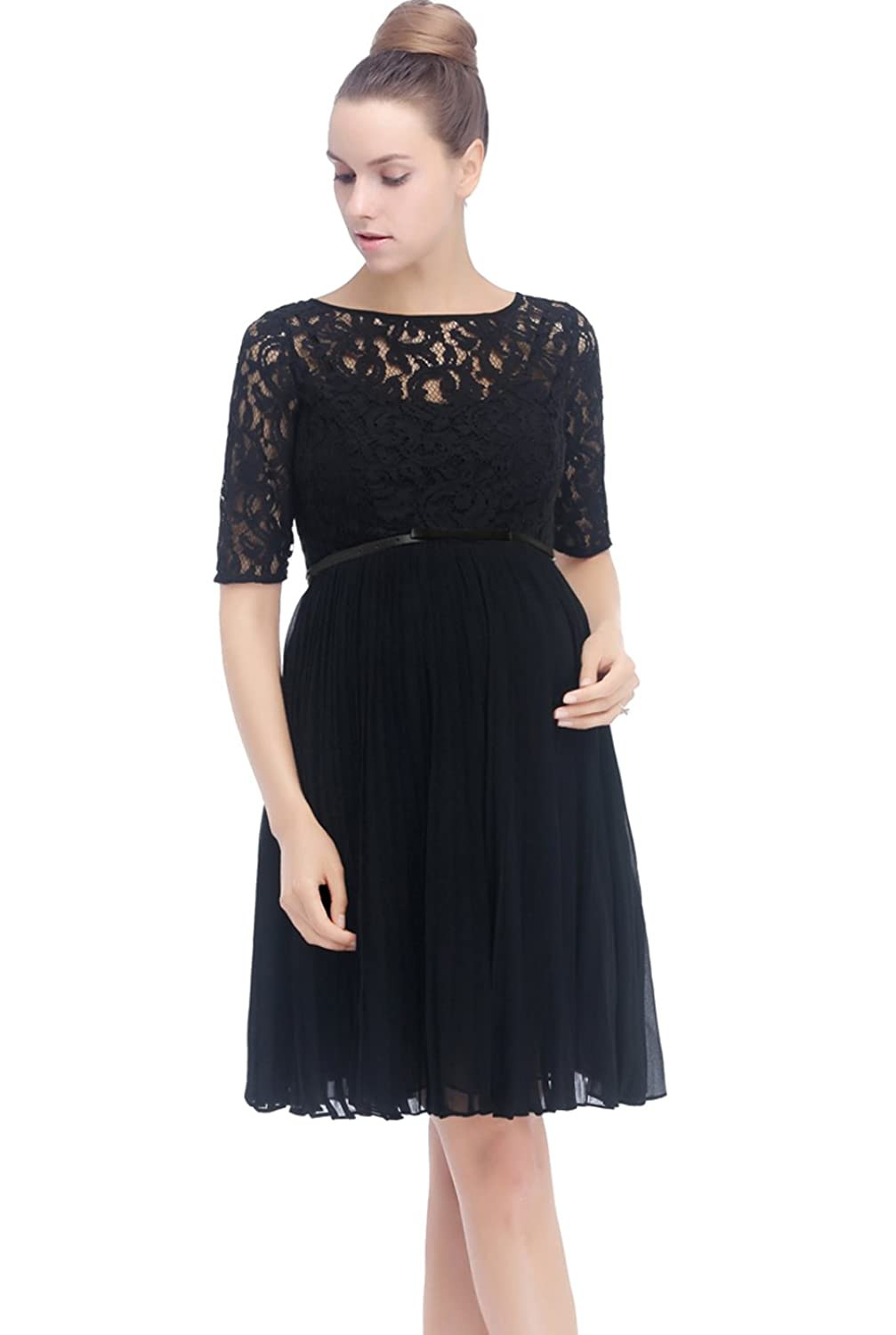 Momo maternity pleated lace fit flare dress at amazon womens momo maternity pleated lace fit flare dress at amazon womens clothing store ombrellifo Image collections