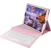 """LoMe 12.9"""" Teclado inalámbrico Bluetooth, Funda de Piel Ultrafina para Tablet y iPad Pro"""