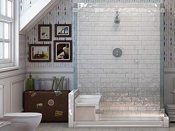 3x6 bella white glossy artisan surface