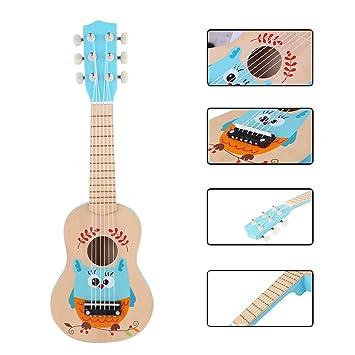 Rolanli Guitarra para Niños, 21 Pulgadas 6 Cuerdas Guitarra ...