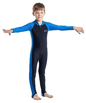 Haolian - Traje de Buceo Completo Wetsuit Infantil Niños Traje de Baño de  una Pieza Swimsuit 6bae65b0ebd6c