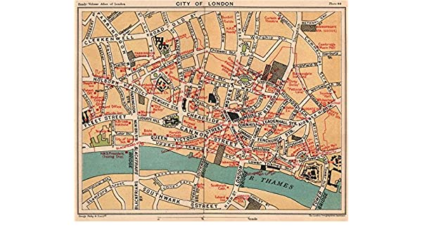Map Of The City Of London.Amazon Com City Of London Public Buildings Livery Companies
