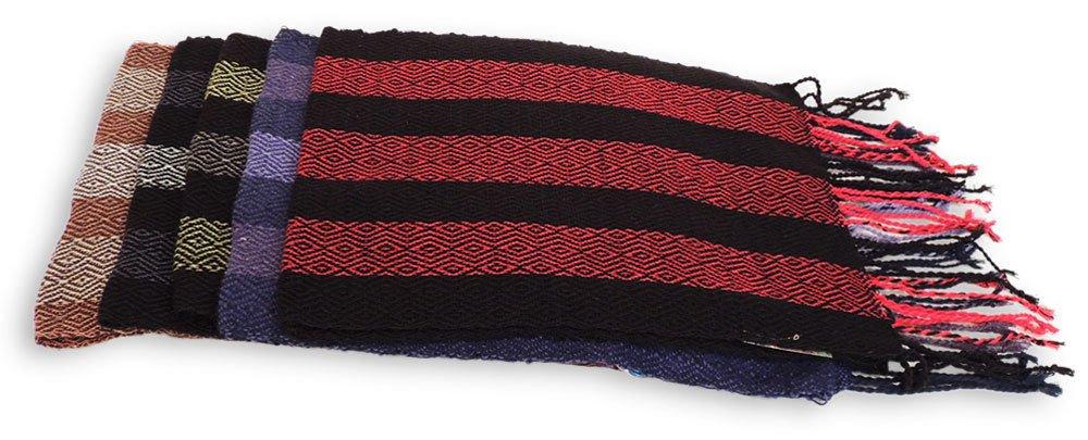 #4417 Hand Loomed Striped Alpaca Scarf Two Pack Assortment Artisan Peru Designer by Sanyork Fair Trade (Image #3)