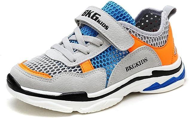 Zapatillas de Running Niño Niña Zapatillas de Senderismo Malla Ligero Transpirables Zapatillas Velcro Unisex Zapatos del Ocio Naranja 39: Amazon.es: Zapatos y complementos