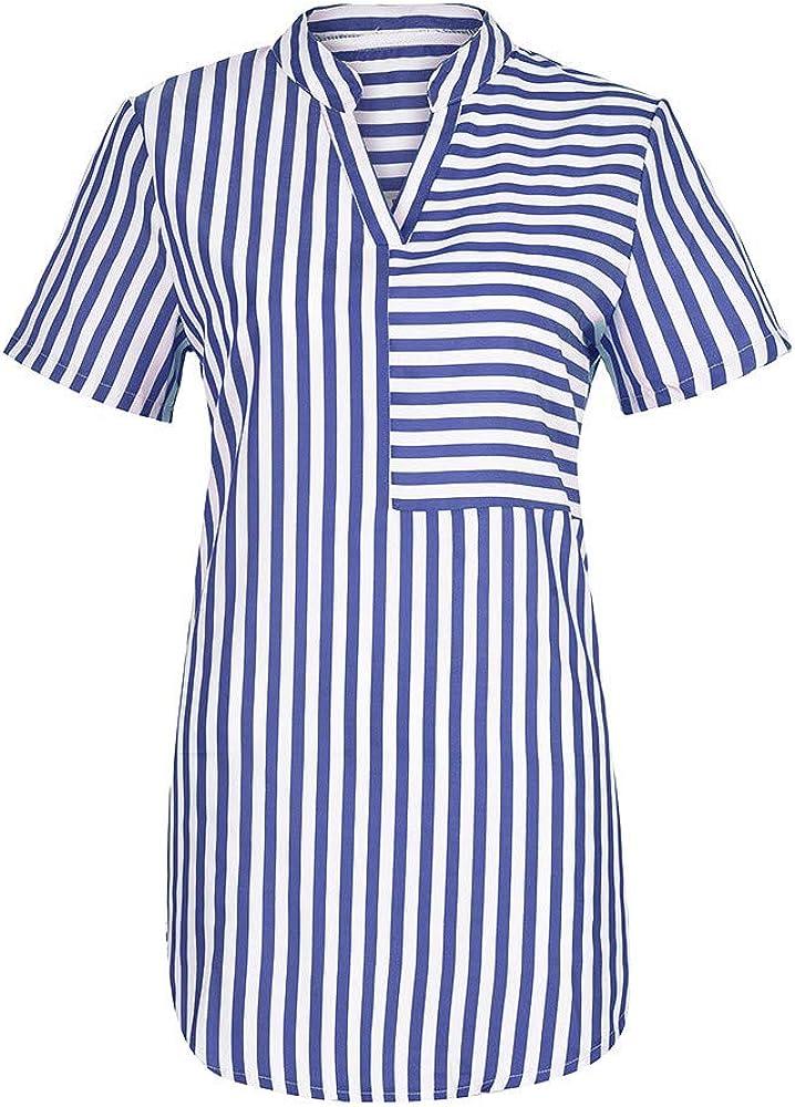 Vectry Blusas De Mujer Camiseta Manga Larga Mujer Camisetas con Volantes Mujer Camiseta Chica Verano Blusas Y Camisas Mujer Estampadas Camisetas Azul: Amazon.es: Ropa y accesorios