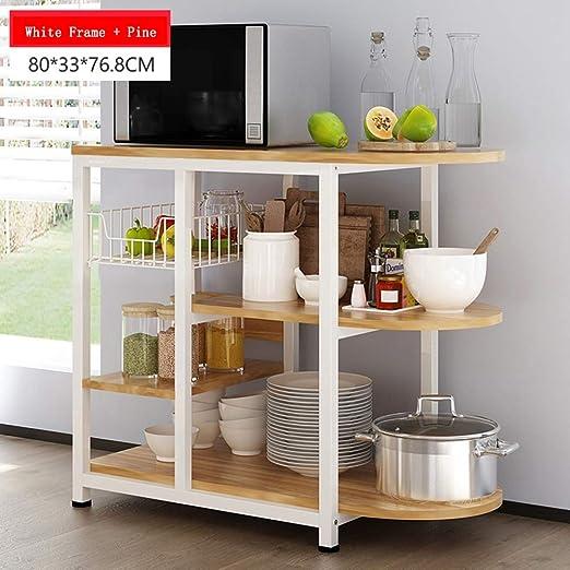 Estante de almacenamiento de cocina de 3 niveles Horno de ...