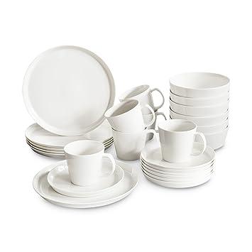 Modernes Geschirr Set amazon de porzellan geschirrset svea 24 tlg springlane kitchen