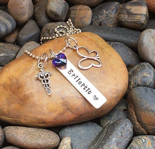 Epileptic Necklace | Epilepsy Necklace| Epilepsy Jewelry | Epileptic  Jewelry | Gift For Epileptic | Medical Alert Necklace | Medical Jewelry