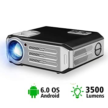 Proyector Android Led 3500 Lúmenes Smart WiFi Proyector Video Hdmi ...