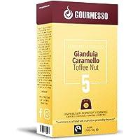 GOURMESSO, Toffee Flavor GIANDUIA CARAMELLO Espresso 10 Capsules, Nespresso Compatible, Intensity 5