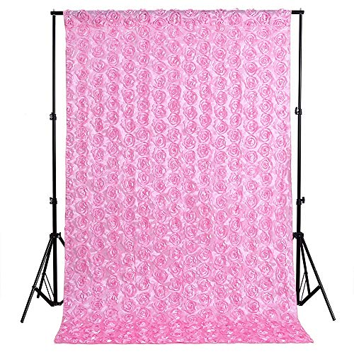 (QueenDream 4ftx6.5ft Pink Newborn Baby Photography Photo Props Rose Flower Backdrop Blanket for Birthday Party)