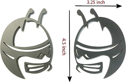 Metal Silver With Black Scat Pack Bee Logo Badge Side Door Trunk Emblem Sticker