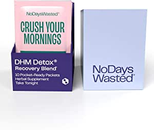 DHM Detox® - No Days Wasted® - New Look - Dihydromyricetin (DHM Supplement), Milk Thistle, Prickly Pear, B Vitamins, Hydration Electrolytes Blend-Take During Evening for Better Next Day and Recovery