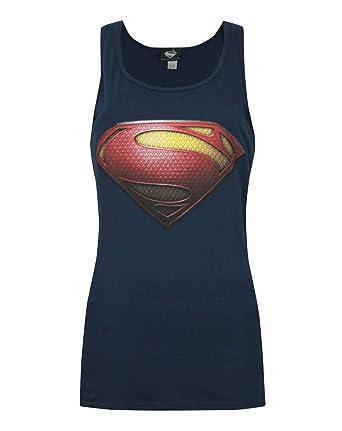 0b1be8da0c6af Amazon.com  Official Superman Man Of Steel Logo Women s Tank Top ...