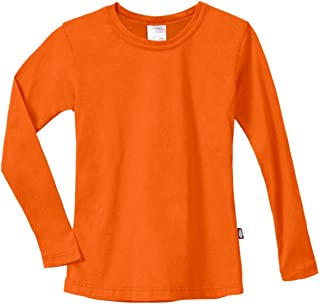 product image for City Threads Girls' Cotton Long Sleeve Tee Tshirt for School and Lounging USA Made