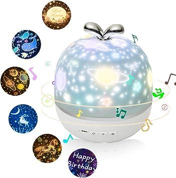 3 en 1 Estrellas Luna luz del proyector de la noche con la caja de ...