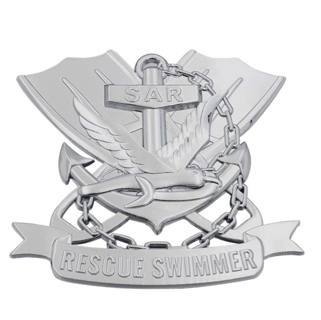 Patriot Accessories Military Auto Emblem Navy Rescue Swimmer