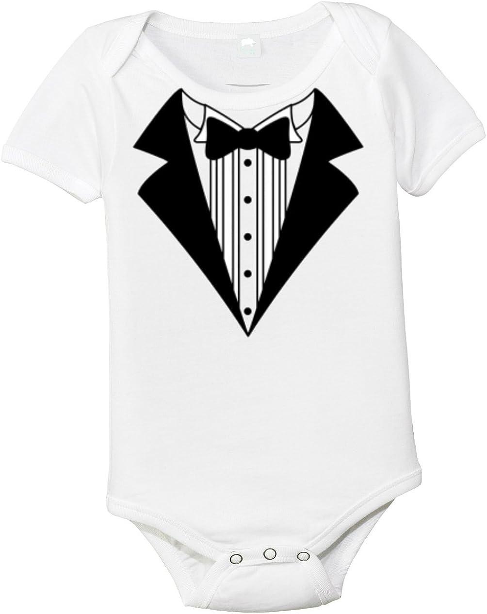 Baby Infant Onesie Bodysuit Shirt Shower Gift Tuxedo Design