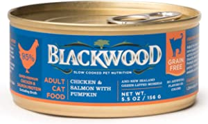 Blackwood Pet Grain Free Wet Cat Food Made in USA [Grain Free Canned Cat Food For All Life stages] Available in 4 Flavor Varieties, 5.5 oz. can, Pack of 24