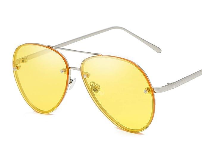 ANAZOZ Gafas de Sol Lente Amarillo Gafas de Sol UV400 Gafas ...