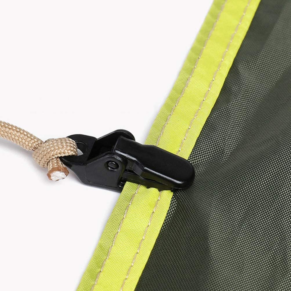 Fishing and Exploration Climbing BESPORTBLE 50Pcs Outdoor Camping Hiking Fishing Tent Clip Lightweight Canvas Fixing Buckle Tarp Clip for Camping