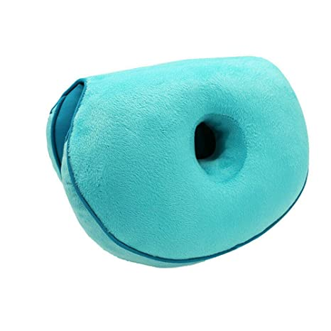 Dual Comfort Cushion Lift Hips Up Seat Cushion Multifunction, for Pressure Relief, Fits in Car Seat, Home, Office (Blue)