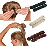 Magic Hair Bun Maker Hair Donut Foam Sponge Clip French Twist Hair Styling Ring Former Shaper Chignon Hair Curler Accessory 6 Pack