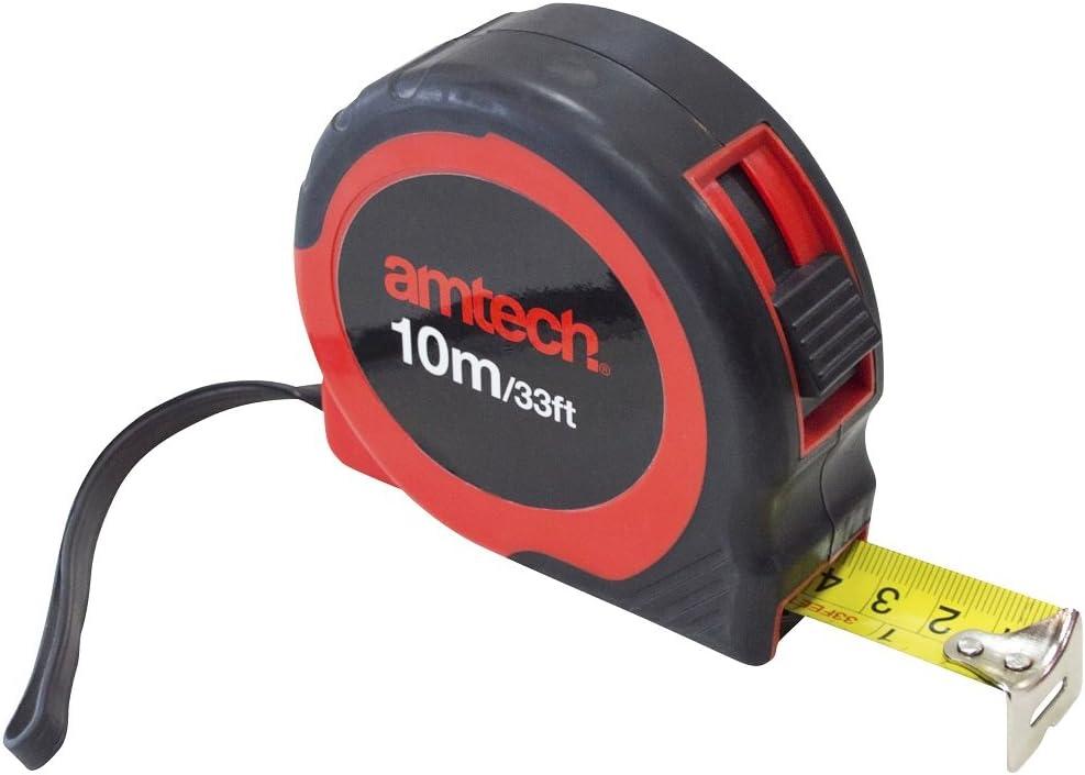 Am-Tech 10 m x 25 mm de cinta de medici/ón p1255