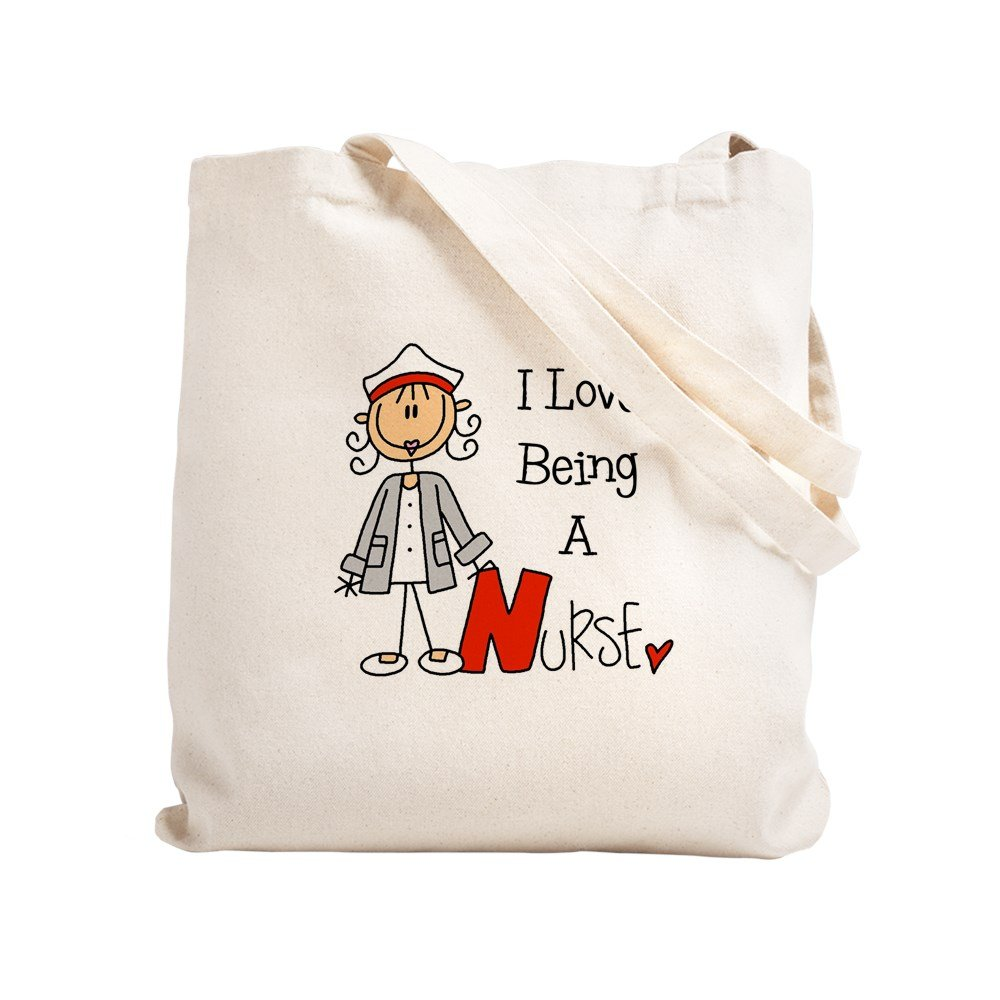 d578304b75bf Amazon.com: CafePress - I Love Being A Nurse - Natural Canvas Tote ...
