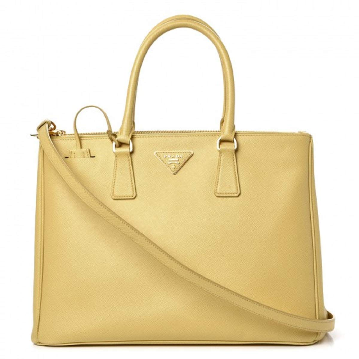 2719a8ca838d PRADA Saffiano Leather Large Galleria Double Zip Tote Polline Handbag Tote  B1786T: Amazon.ca: Shoes & Handbags