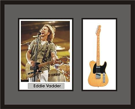 Amazoncom Artstudio35 Eddie Vedder Guitar Shadowbox Frame Pearl
