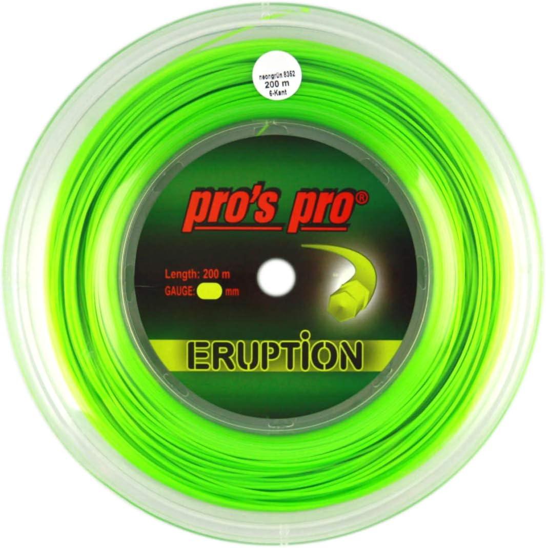 200m Rollo P3 International Pros Pro Eruption Cordaje de Tenis Verde
