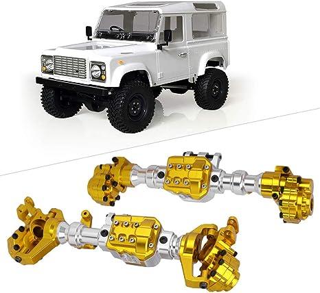 Cosiki 𝐑𝐞𝐠𝐚𝐥𝐨 𝐝𝐞 𝐍𝐚𝒗𝐢𝐝𝐚𝐝 1:10 Ejes, RC Car Upgrade Kit de Carcasa de Eje Delantero y Trasero para camión Modelo TRAXXAS TRX4
