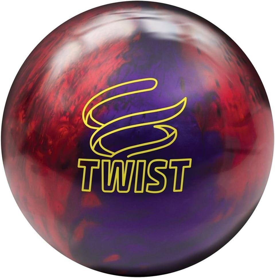 BrunswickツイストReactive pre-drilled Bowling ball-レッド/パープル