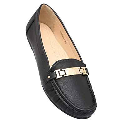 71c192bec4b Allen Solly Women s Black Loafers and Moccasins - 5 UK India (37 EU ...