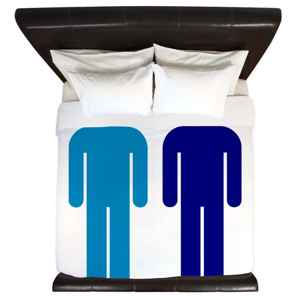 CafePress - Blue Boys In Love Gay Marriage Equality LGBT Civil - King Duvet Cover, Printed Comforter Cover, Unique Bedding, Microfiber